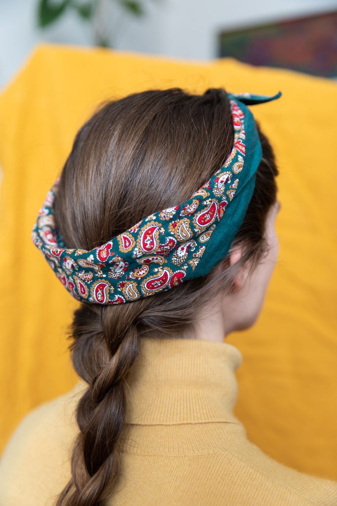 braid scarf lockdown hair