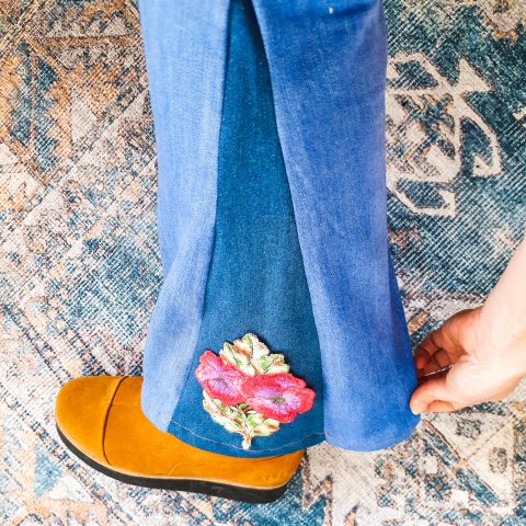 how to make flared jeans